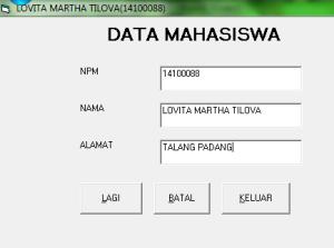 DATA MAHASISWA LOVA
